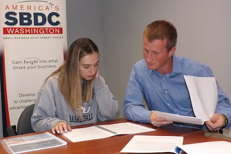 Savannah Kneeland-Salem and Ian Fisher, SBDC interns.