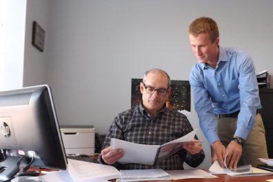 Alan Stanford, SBDC business advisor, and Ian Fisher, SBDC intern, (l-r)