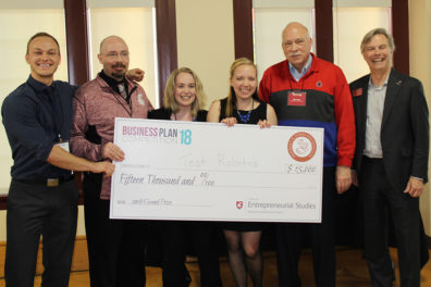 'Test Robotics' team wins $15,000 at WSU's annual Business Plan Competition. Photo by Nikki Garcia.