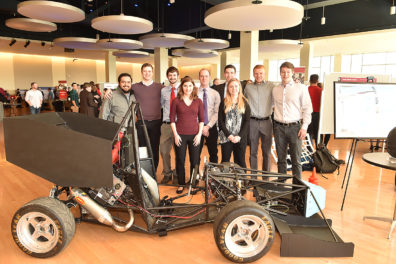 Voiland College of Engineering and Architecture students display their work at 2017 Engineering Capstone Expo.