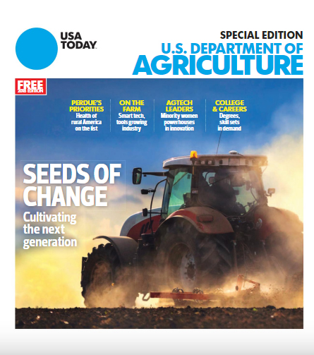 Cover of USA Today special edition on U.S. Department of Agriculture