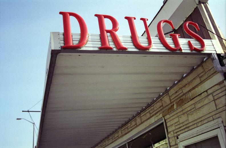 drug store building sign