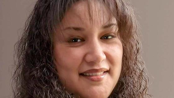 A close-up of Maria de Jesus Dixon.