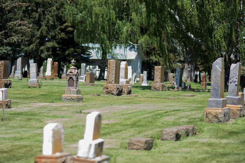 overview of cemetery