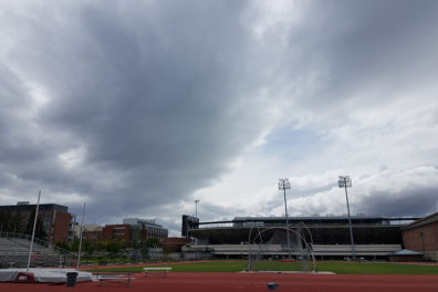Storm clouds gather over Pullman on May 10. (Photo by Linda Weiford, WSU News)
