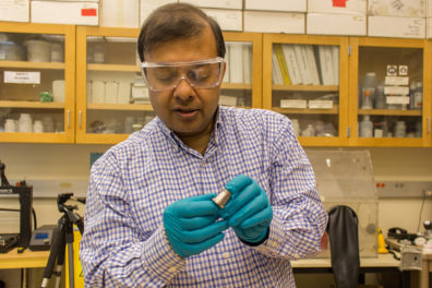 Amit holds bimetal object