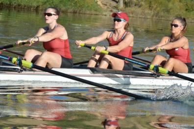 wsu women's rowing crew in action