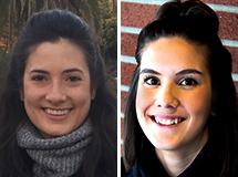Individual closeups of Maria Tatum and Shelby Ruiz.