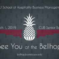 See you at the Bellhop, March 1, 2019, in the Cub Senior Ballroom.