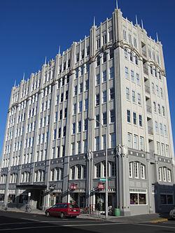 Exterior of John Jacob Astor Hotel.