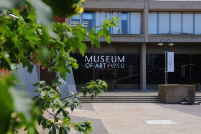 Exterior of original Museum of Art/WSU in Fine Arts building.