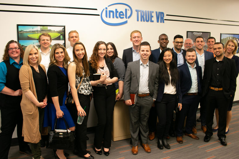 Students meet with Intel employees in Silicon Valley.