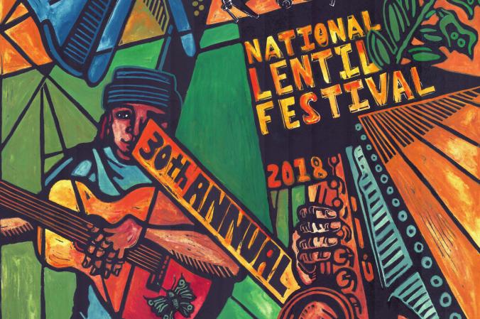 Segment of Lentil Festival promotion poster.