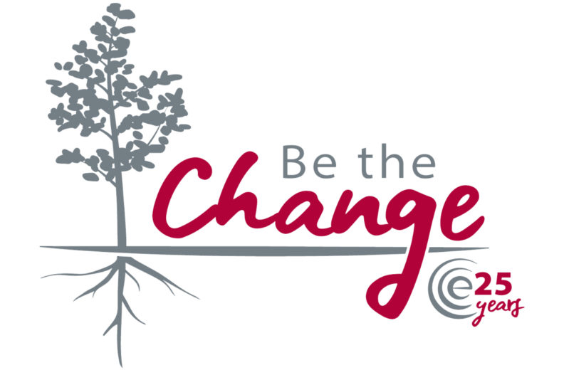 CCE's 'Be the Change' logo.