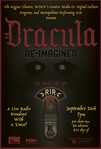 Banner for 'Dracula' by Re-Imagined Radio.