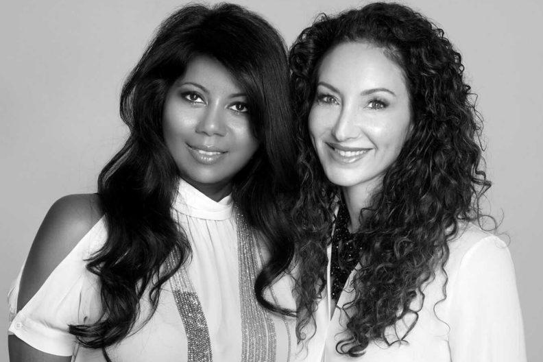 A closeup of Sharmilla Persaud and Arianna Brooke.