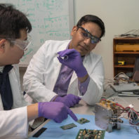 Su Ha and Subhanshu Gupta look at micro electronics.
