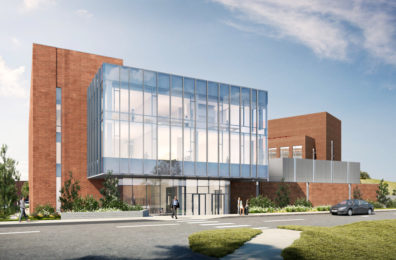 Rendering of the south elevation of the new WADDL buidling.