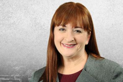 Closeup of Lisa Waite.