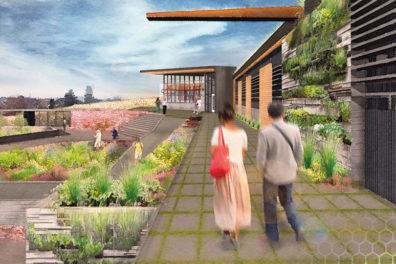 Artistic rendering of pollinator facility.