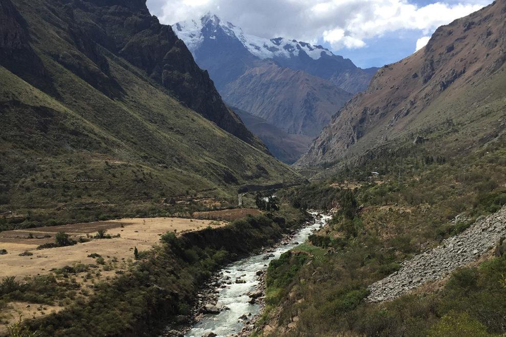 Mountain-fed stream in Peru.