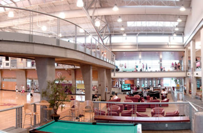 Interior of WSU's Student Recreation Center.