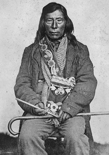 Nez Perce Chief Lawyer with pipe.