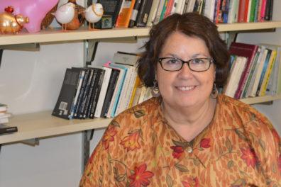 Closeup of Navarro-Daniels in her office.
