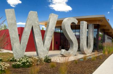 Exterior of Brelsford WSU Visitor Center.