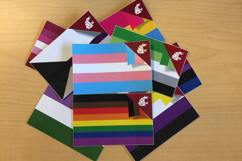 Assortment of pride flags representing LGBTQ.