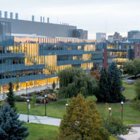 Aerial view of WSU Spokane campus.