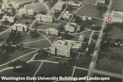 historic aerial rendering of WSU campus
