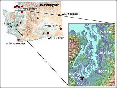 Map of the Meyer's Point area.