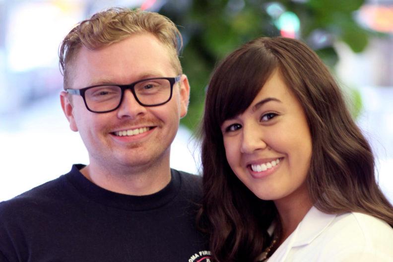 Closeup of Dillon Voight and Nina Thach.
