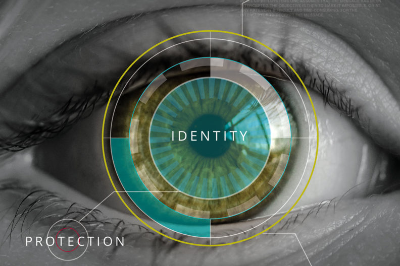 Illustration promoting identity protection.