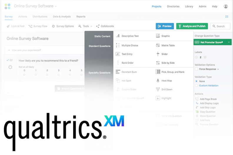 Online survey tools offered by Qualtrics.