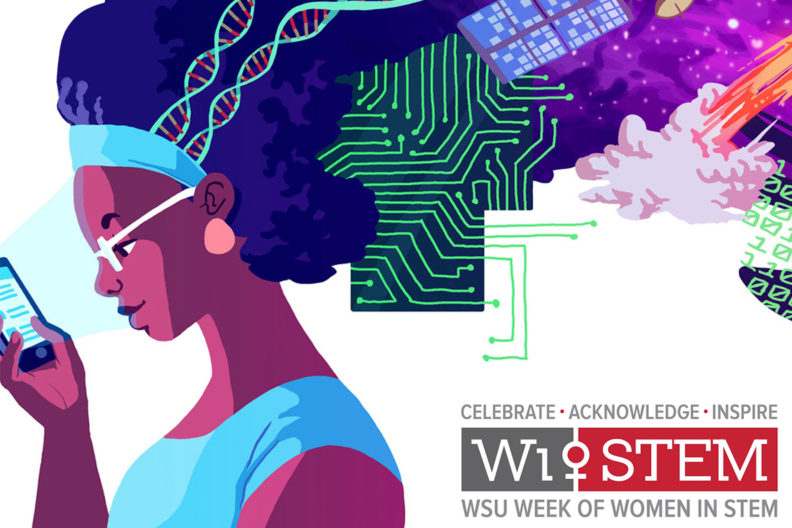 WiSTEM celebration art for WSU's Week of Women in STEM.