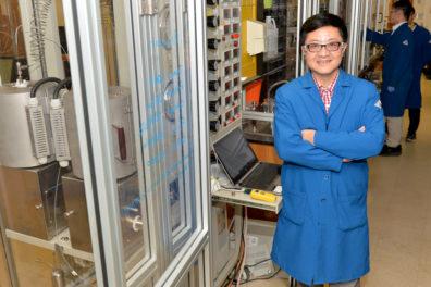 Yong Wang in his laboratory.