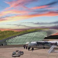 Illustration of new airport design.