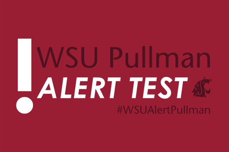WSU Pullman alert test