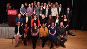 Group photo of CAS award recipients.
