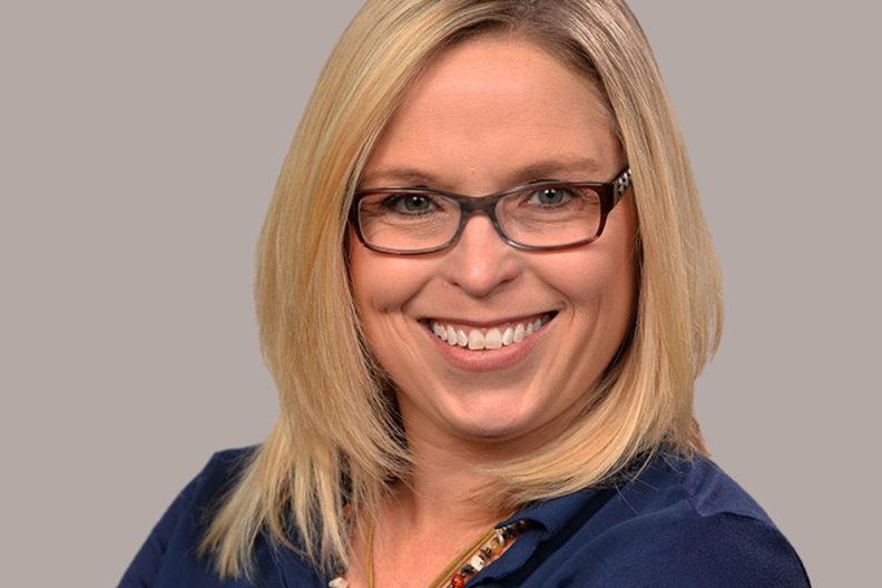 Closeup of Rebecca Cooney.