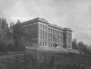 Historic image of Carpenter Hall in 1916.