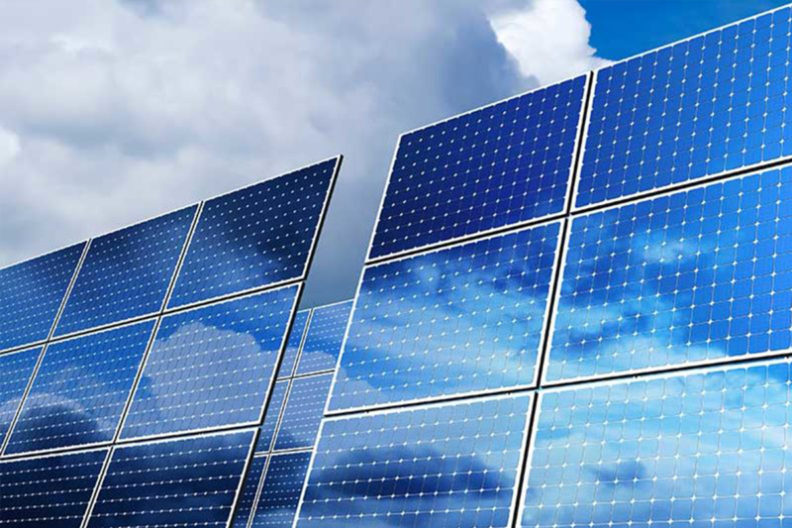 Image of solar panels.