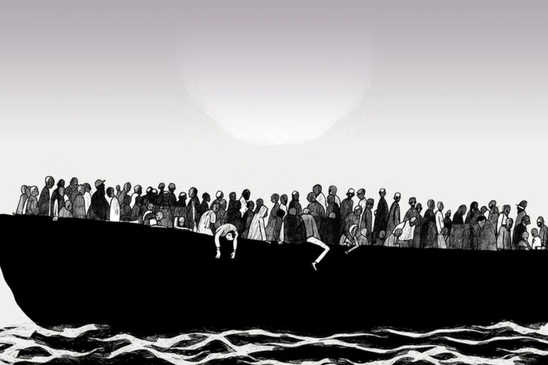 Cover art from 'Refuge: Rethinking Refugee Policy in a Changing World'.