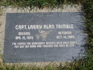 Larry Trimble's gravestone.
