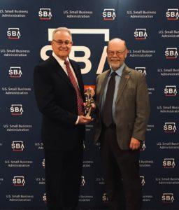 Vern Jenkins receives an award