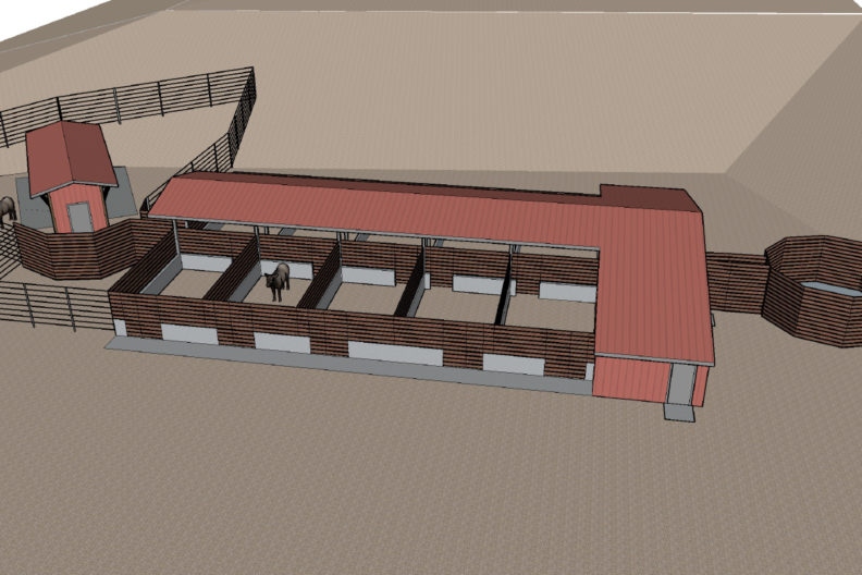 Design of a proposed elk hoof research facility.