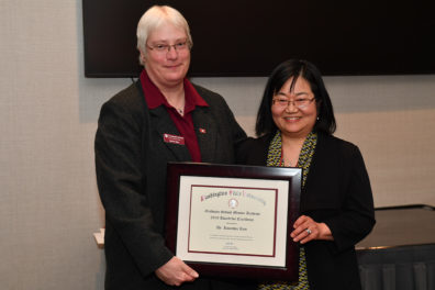 Kwanhee Kim, a faculty member in the School of Molecular Biosciences, has been awarded this year's Faculty Mentor Award for Excellence by the Graduate School.