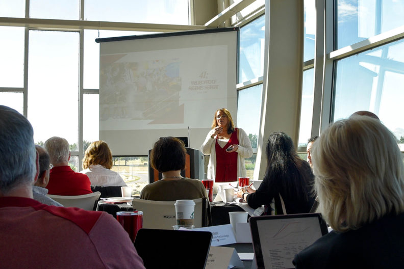 Attendees listening during the WSU Board of Regents retreat at WSU Tri-Cities.
